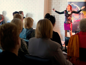 Caren on Stage