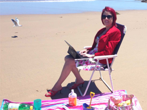 Caren on Beach